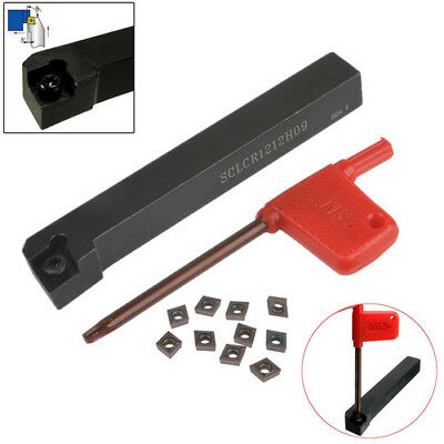 SCLCR1212H09 Turning Tool Holder CNC Lathe Tool Cutter With 10pcs CCMT09T304