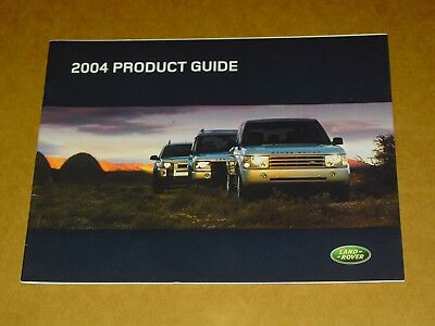 2004 Land Rover Brochure 20 Pages Nice! Hse Discovery Freelander