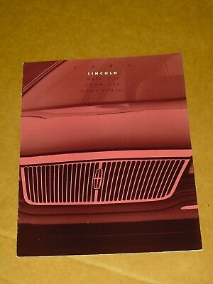 1993 Lincoln Brochure 12 Pages Nice! Mark Viii Town Car Continental