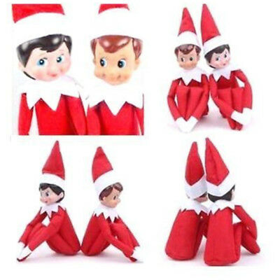 2pcs Red Elf on the Shelf A Christmas Tradition Blue-Eyed Boy Girl Scout Elf USA