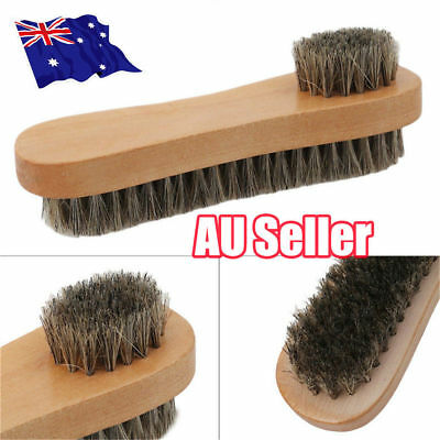 Bristle Hair Shoe Brush Double-Sided Vamp Cleaning Tool Shoes Protector Brush J