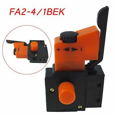 5E4 FA2-4/1BEK Lock Electric Hand Drill Speed Control Trigger Switch Stable Hot