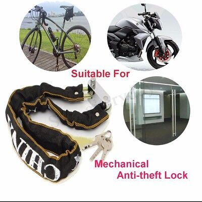 Heavy Duty Motorbike Motorcycle Scooter Bike Bicycle Cycle Chain Lock Padlock