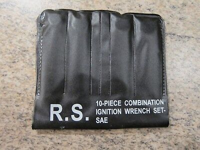 RS 10-piece combination ignition wrench set in original plastic wallet