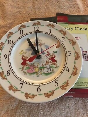 Nursery Clock Royal Doulton Bunnykins 2001 melamine iconic inbox as new