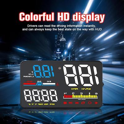 D5000 Auto HUD Head Up Anzeige 5 Zoll OBD2 Overspeed Warning System Projektor DE