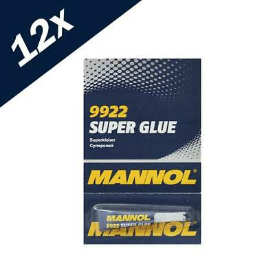 12 x 3g Super Glue strong bond adhesive plastic glass rubber paper