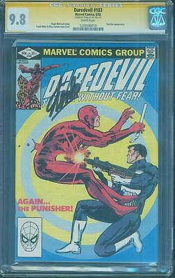 Daredevil 183 CGC SS 9.8 Stan Lee Signed vs Punisher Frank Miller 1982 White Pgs