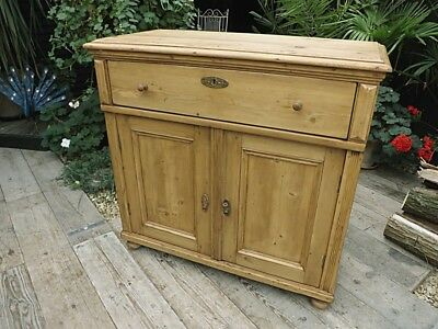 Fabulous! Old Antique Pine Dresser Base/sideboard/cupboard/cabinet. We Deliver!
