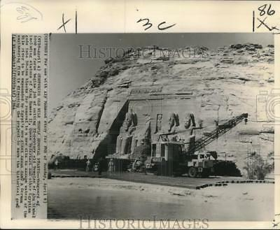 1964 Press Photo 32-Century-Old Temple Removed to New Site in Egypt - nob02374