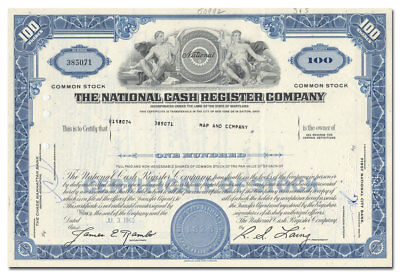 National Cash Register Company Stock Certificate