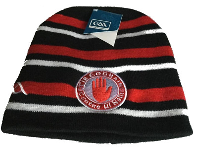GAA Tyrone Official Ireland County Home Style Red and Black Beanie hat