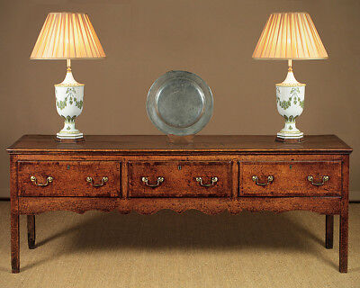 Antique Low Open Welsh Dresser Base c.1800.