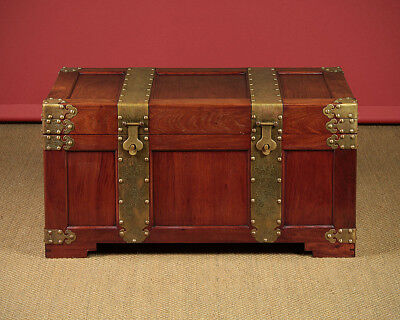 Mid 20th.c. Oriental Brass Bound Chest c.1950.