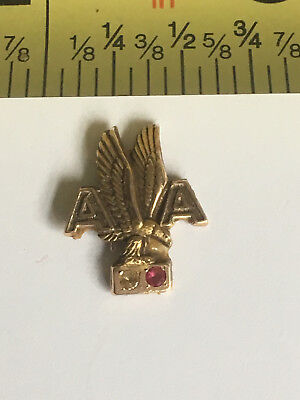 VTG Antique American Airlines 15 Year Service Pin Back 10K Gold Diamond REPAIR