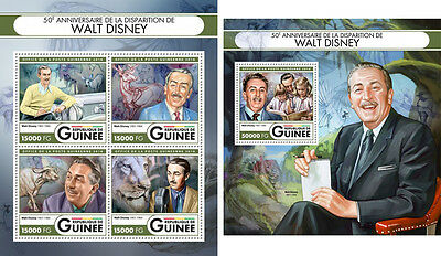 Walt Disney Cinema Cartoons Animals Guinea MNH stamp set