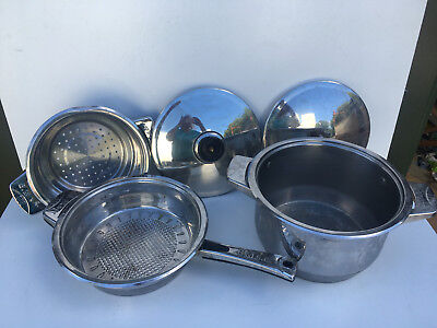 Joblot Commercial stainless steel bachmayer cooking pans as pictured TC220618F