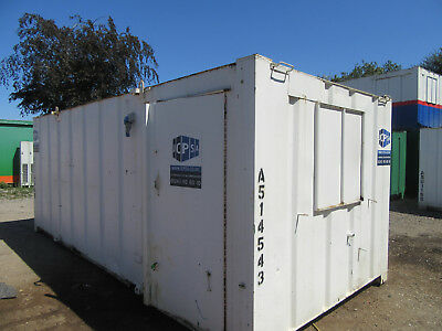 20ft x 9ft SITE CABIN SITE OFFICE PORTABLE BUILDING ANTI VANDAL 2000 + VAT OFFER