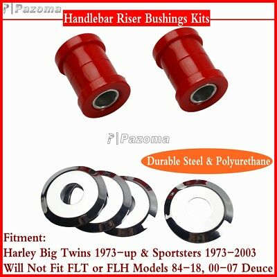 Motorcycle Polyurethane Handlebar Riser Bushing Kits For Harley Big Twins 73-Up