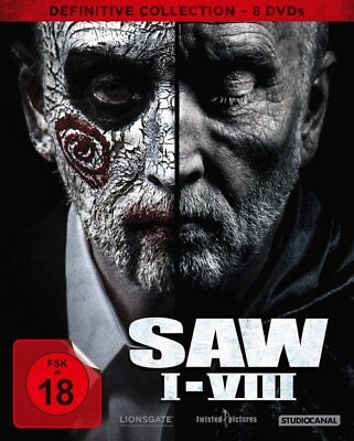 Saw  1-8 - Definitvie Collection - 8 DVD DigiPak - FSK 18