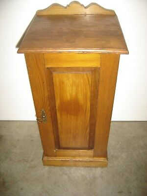 Antique One-Door Chestnut/Oak Night Stand Raised panel door 401