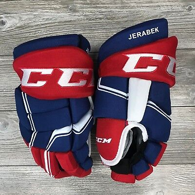 Ccm Hgql Quicklite Montreal Canadiens Pro Stock Hockey Gloves 14