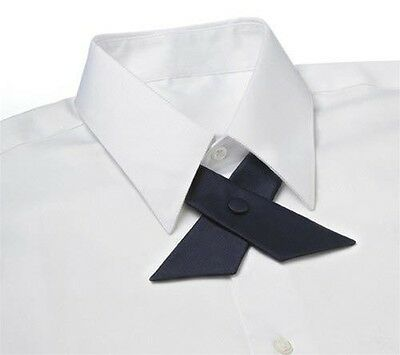 Dark Navy Blue Satin Crossover Tie