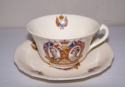 1937 King George & Queen Elizabeth Coronation Cup & Saucer Alfred Meakin