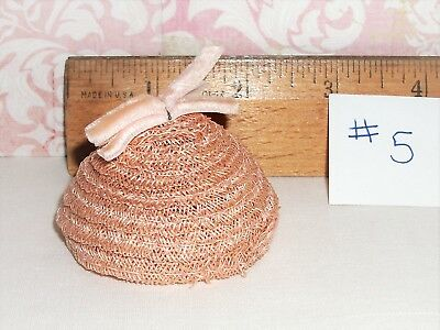Vintage Vogue Ginny or Jill 1950's Light Pink Horsehair Hat -EUC-