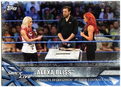 Alexa Bliss #WWE-8 WWE Womens Division WWE Matches & Movements Topps Card C2260