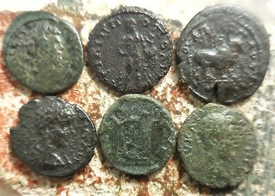 Lot of 6 Roman Provincial Coins, Fine - VF, Largest 20.5 mm