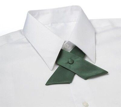 Hunter Green Satin Crossover Tie