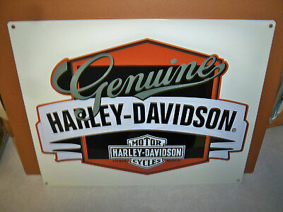 Harley Davidson Rectangle Metal Sign - New - Genuinew/Banner