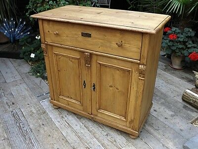Lovely Old Antique Pine Dresser Base/sideboard/cupboard/cabinet. We Deliver!