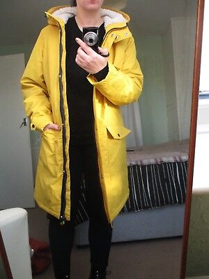 da305f02acc0 YELLOW RAIN MAC, WINTER COAT, SHOWER PROOF WATER RESISTANT, size 16, GEORGE