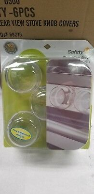 NEW - Safety 1st (5 Pack) - Clear View Stove Knob Hinged Covers - FREE SHIPPING