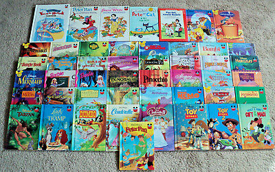 Lot of 48 Vintage Disney's Wonderful World Of Reading Hardcover Books