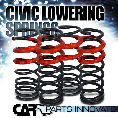 For 1993-1997 Civic del Sol Black Red Suspension Coilover Lowering Springs Kit