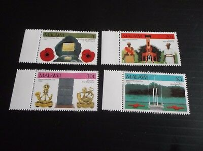 Malawi 1982 Sg 662-665 Remembrance Day Mnh