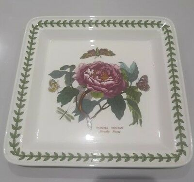 PORTMEIRION BOTANIC GARDEN SQUARE SERVING PLATE LARGE.  peony design