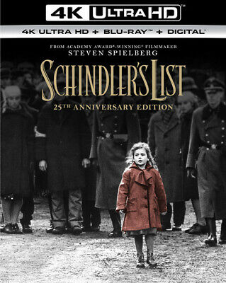 Schindler's List (25th Anniversary Edition) [New 4K UHD Blu-ray] With Blu-Ray,