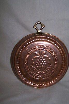 Vintage Copper kitchen wall hanging tin Cheer, Good Times, Good Friends Health