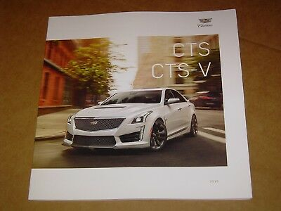 2019 Cadillac Cts + Cts-V Brochure Mint! 46 Pages