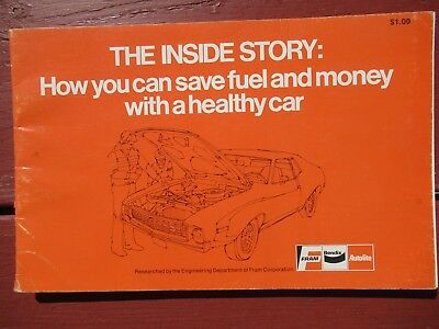 1980 Fram Bendix Autolite The Inside Story Pamphlet Save Fuel with Healthy Car