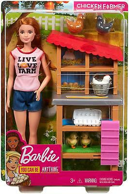 Barbie Chicken Farmer You Can Be Anything Doll & Chicken Coop Playset w/ Chicks