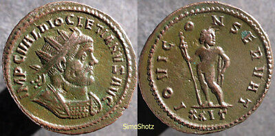 Ancient Roman Coin - Diocletian - Pre-Reform - Jupiter - Unlisted in RIC