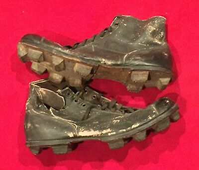 Antique Circa 1910 Spalding Brand Stacked Leather Football Cleats Shoes Early