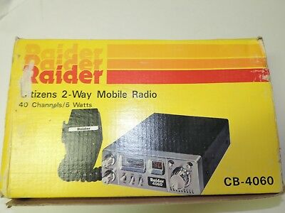 Cb Radio Raider 4060 Vintage 41 Years Old Brand New In Box Classic Time Capsule