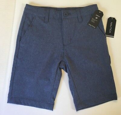 Nautica Boys Flat Front Stretch Shorts Size 7 New NWT MSRP $34.50 Blue