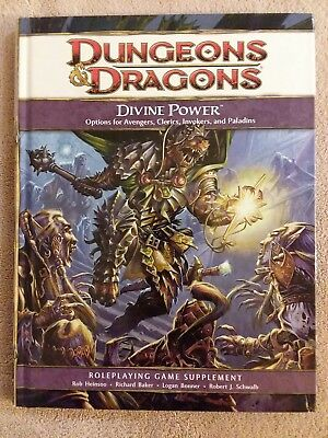 Divine Power - Dungeons & Dragons 4th Ed. - 1st Printing 2009 - Mint Copy